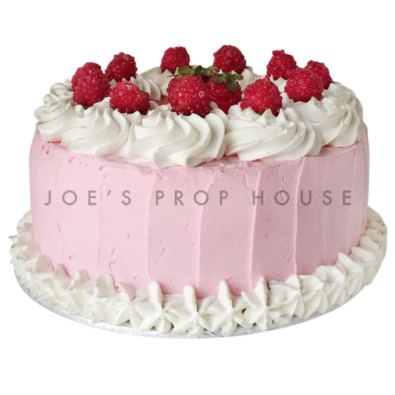 Raspberry Frost Prop Cake