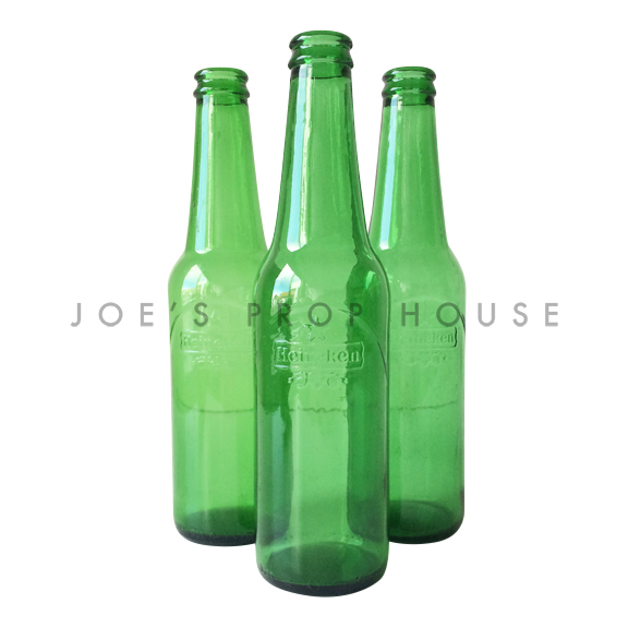 Empty Green Beer Bottles