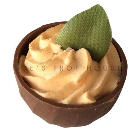 Orange Mousse Chocolate Cup Dessert Prop