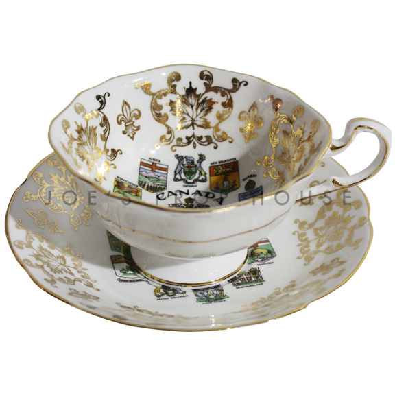 Canadiana Teacup and Saucer
