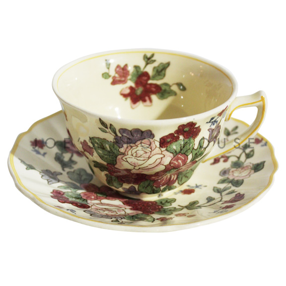 Darla Floral Teacup and Saucer