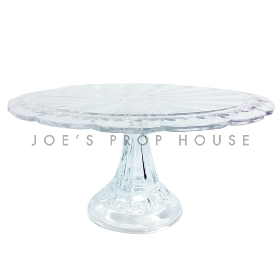 Emilia Clear Scallop Glass Cake Stand