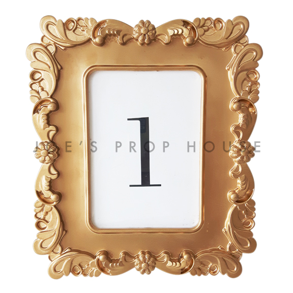 Chantilly Table Number Frame Gold 5in x 7in