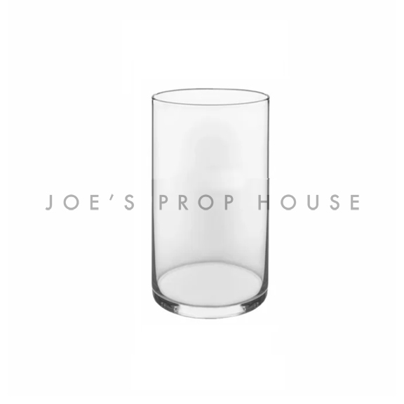 Clear Glass Cylinder Vase H6in x D3.375in