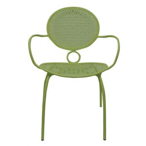 Flo Metal Armchair Green