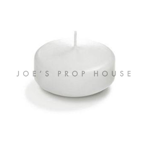 White Floating Candle D3in