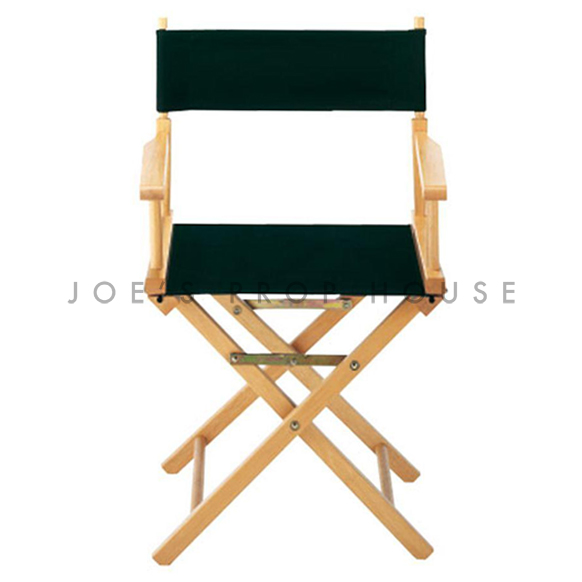 Black Director Chair w/Wood Frame