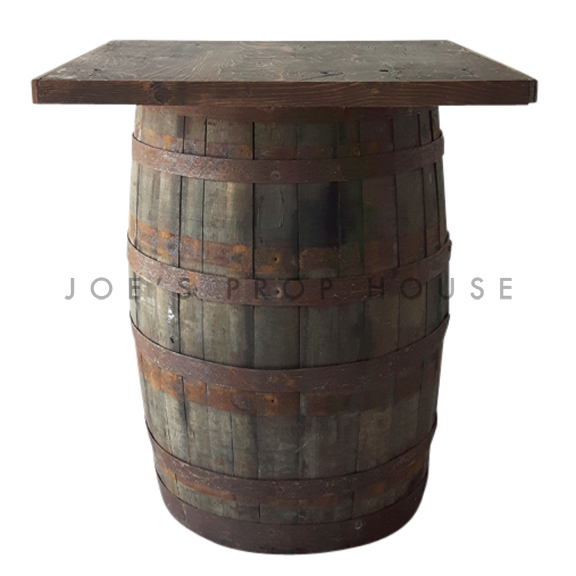 Distressed Brown Barrel Cruiser Table