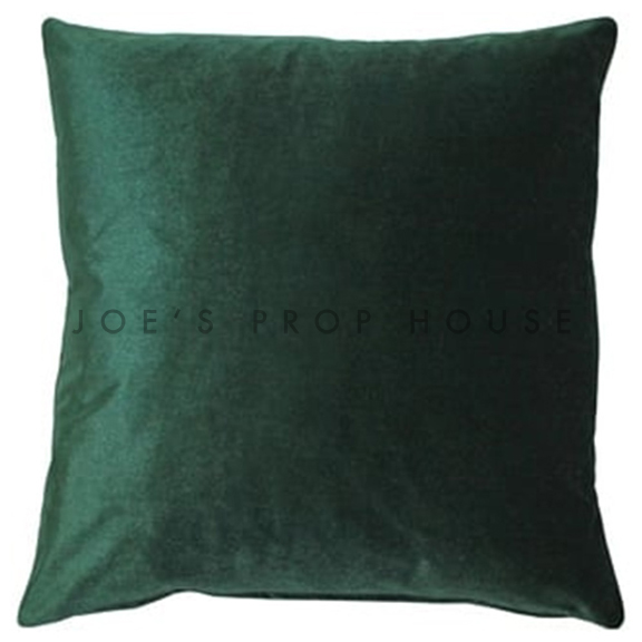 Emerald Green Velvet Accent Pillow