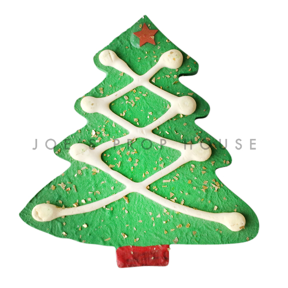 Green Christmas Tree Cookie Dessert Prop