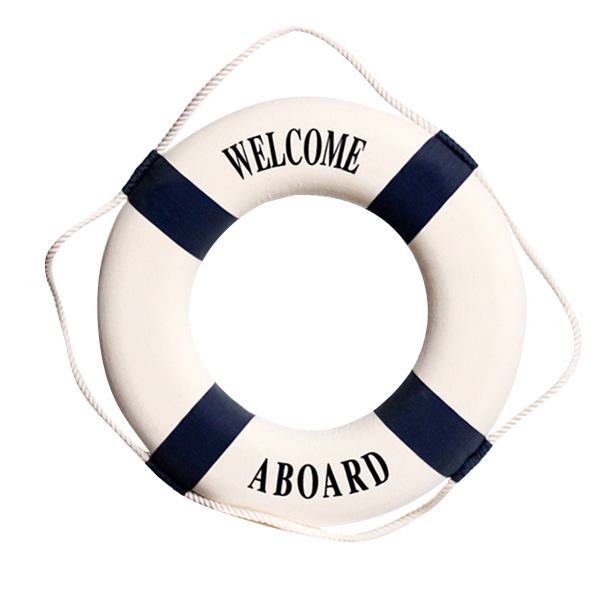 Welcome Aboard Lifesaver Blue