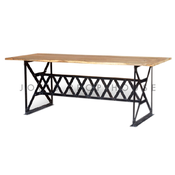 Crosshatch Industrial Dining Table