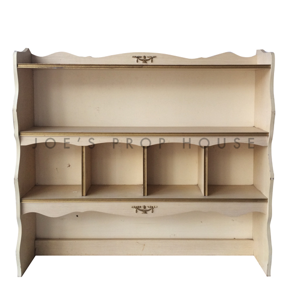 Abbey Hutch Ivory w/Gold Trim