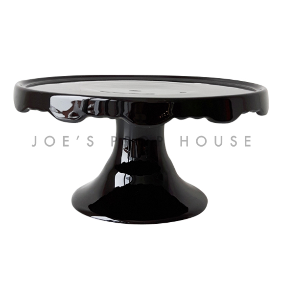 Keira Scallop Pedestal Cake Stand Black