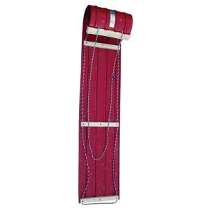 Metal Toboggan Sled Red