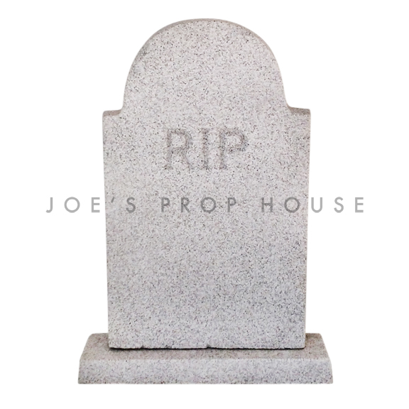 Lifesize RIP Foam Tombstone Grey