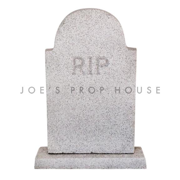 Lifesize RIP Foam Tombstone Grey
