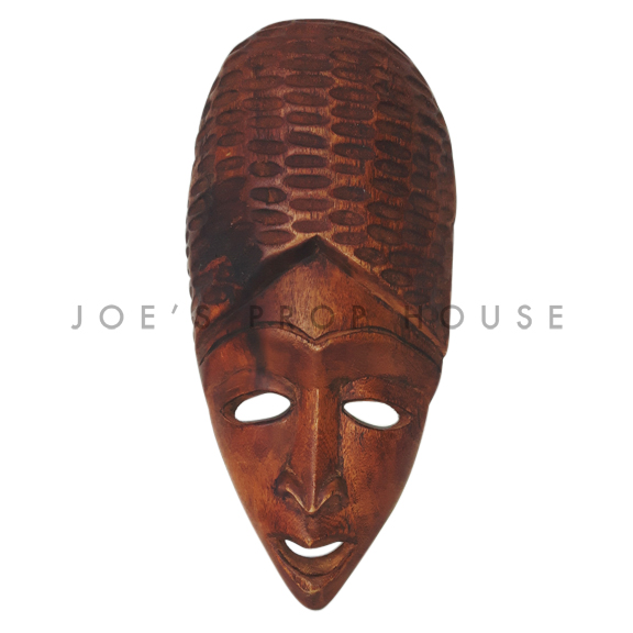 Tellula African Wooden Mask Brown