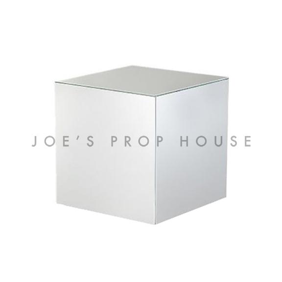 Riser d'affichage de cube de chrome argenté-L6po x H6po x P6po