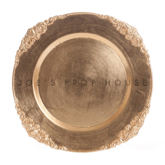 Gold Ornate Charger Plate