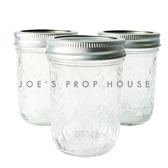 Diamond Cut Clear Mason Jars SMALL