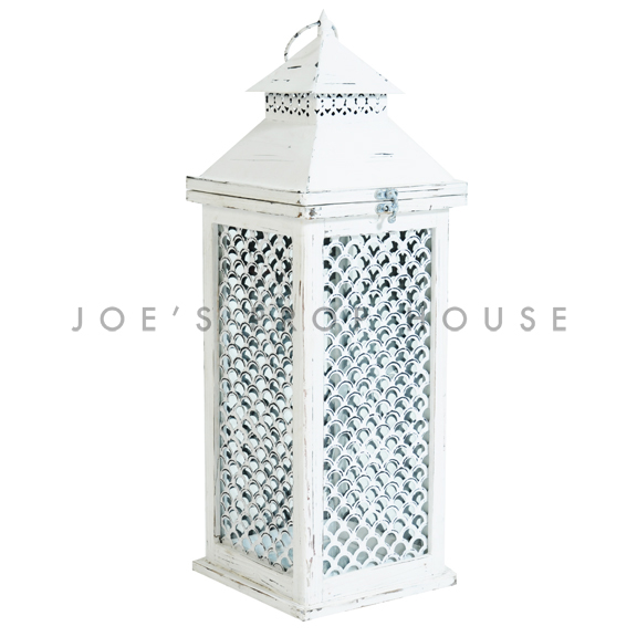 Fish Scale Lantern White
