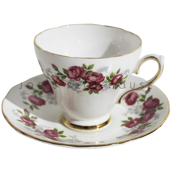 Isis Floral Teacup and Saucer