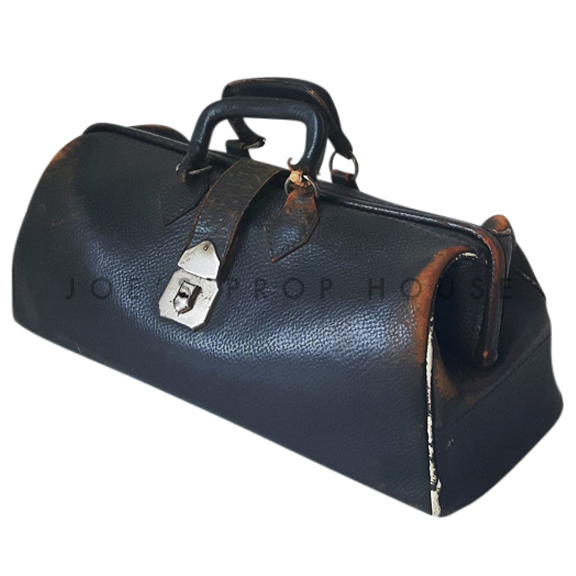 Briggs Leather Doctors Bag Black