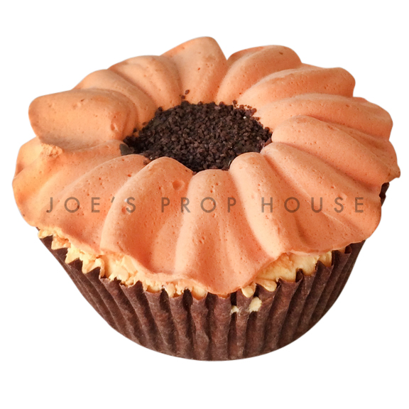 Orange Daisy Cupcake