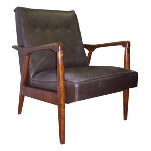 Collin Vinyl Armchair Brown