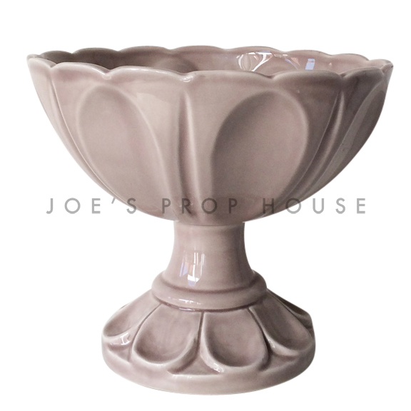 Lily Porcelain Pedestal Bowl Dusty Rose