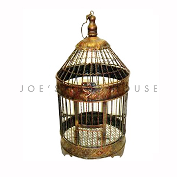 Winston Metal Birdcage Bronze Small