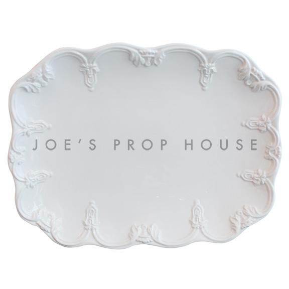 Bethany Scallop Porcelain Platter White