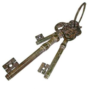 Oversized Ring of Metal Keys