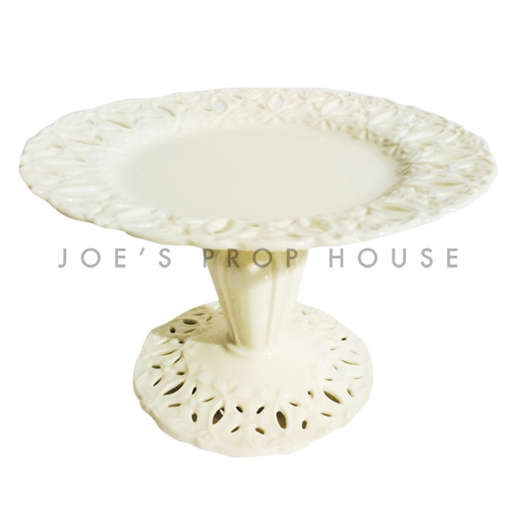 Anabelle Round Porcelain Cake Stand Ivory