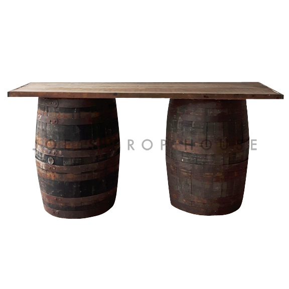 Distressed Barrel Bar Brown L6ft