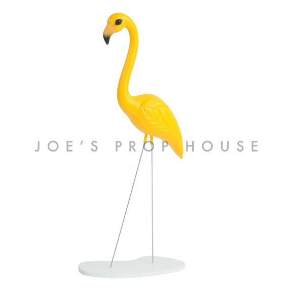Yellow Flamingo w/base