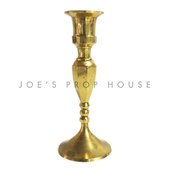 Burna Brass Tapered Candlestick