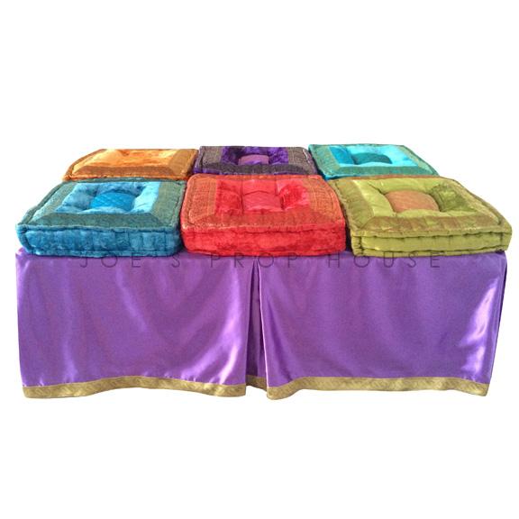 Bombay Six Seat Ottoman w/cushions L54po x P36po X H22po