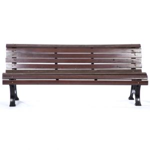 Raymond Park Bench Brown W76in x D23.5in x H17.5in