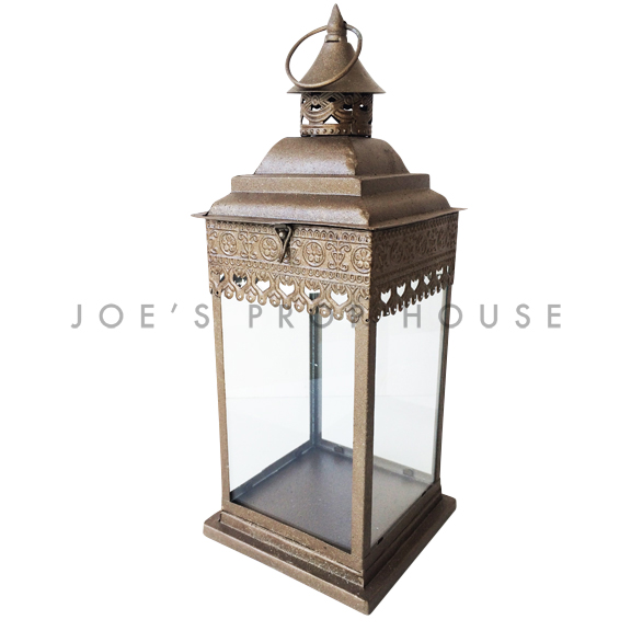 Zaida Metal Lantern LARGE Bronze
