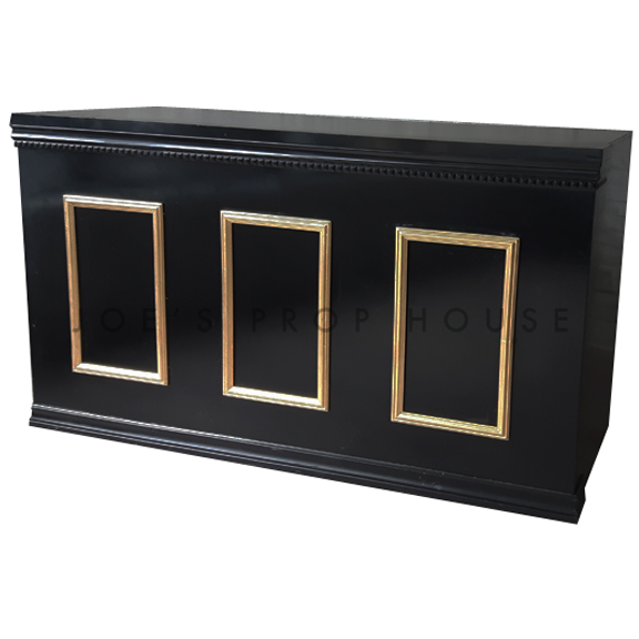 Tower Bar Black w/Gold Molding L6ft