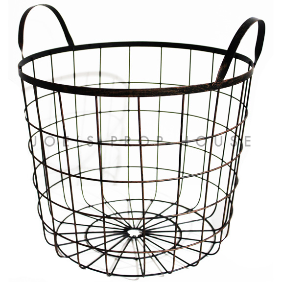 Wire Frame Basket w/Handles LARGE black