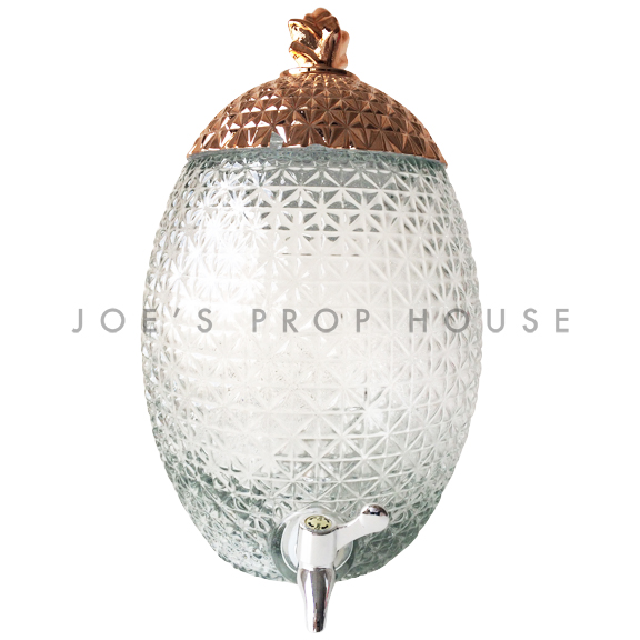 Pineapple Glass Beverage Dispenser w/Rose Gold Lid LARGE