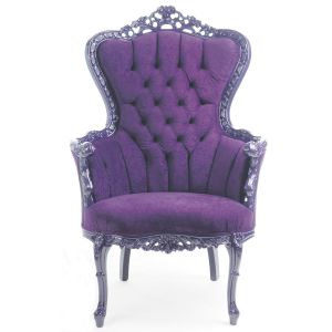 Baroque Tufted King Armchair Purple