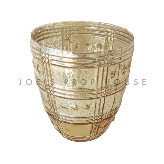 Estella Mercury Glass Vase SMALL Gold