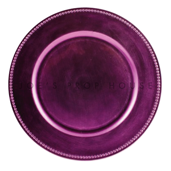 Lavender Beaded Charger Plate