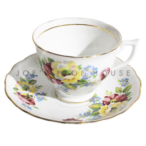 Tasse à thé et soucoupe florale Hannah