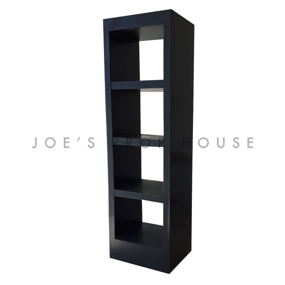 3 Shelf Single Tower Barback Black