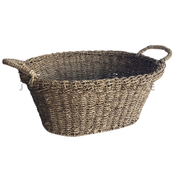 Fiona Oval Wicker Basket w/Handles